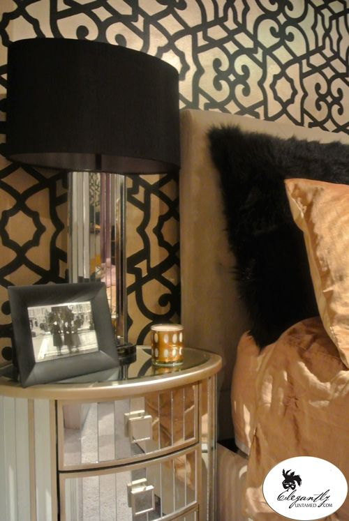 Bedroom Glimpse Black And Gold I Love Gold Pinterest