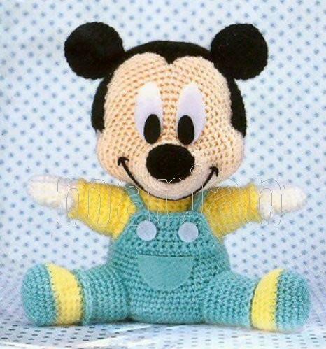 Crochet Doll amigurumi Pattern - Baby Mickey
