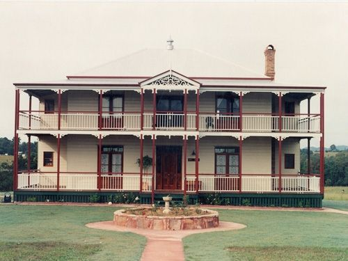 'Leichardt' house with its red and cream heritage colour scheme brings out its natural charm