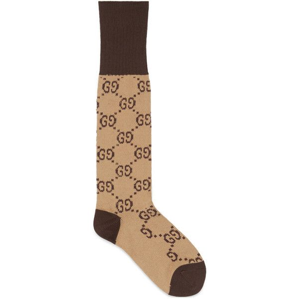 Gucci Gg Pattern Cotton Blend Socks (€83) ❤ liked on Polyvore featuring intimates, hosiery, socks, beige, tennis socks, beige socks, cotton blend socks, patterned hosiery and patterned ankle socks