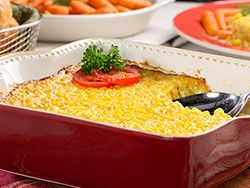 Corn pudding is a dish that's been around since the early days when settlers learned how to cook corn from the Native Americans. Today, it's still a side dish favorite that families love to change up and make their own. Our Easy Corn Pudding recipe is the shortcut way of making this classic dish, and it's very tasty!