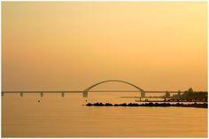Abendstimmung an der Fehmarnsundbrücke