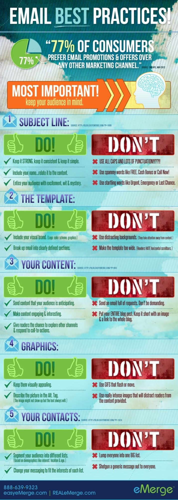 Email Best Practices #email #infographics