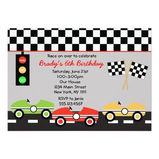 405 best images about Racing Birthday Party Invitations – Invitations for Parties