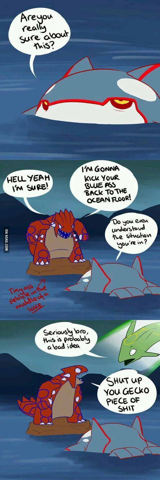Groudon, seriously just listen to what they said. - 9GAG
