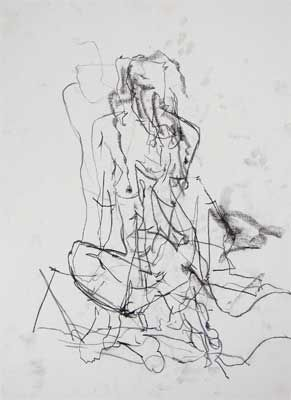 5. Gina Wright. Life drawing done without looking - often called 'blind drawing'. Click on the image to see original source.
