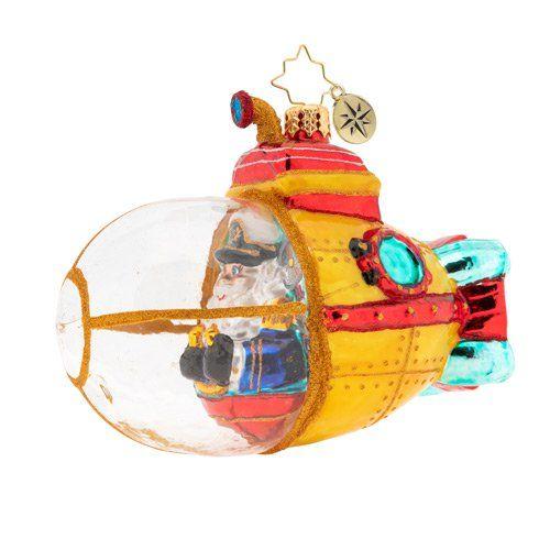 Submarine Christmas 2020 Submarine Claus 1019825 $70.00   Christopher radko ornaments