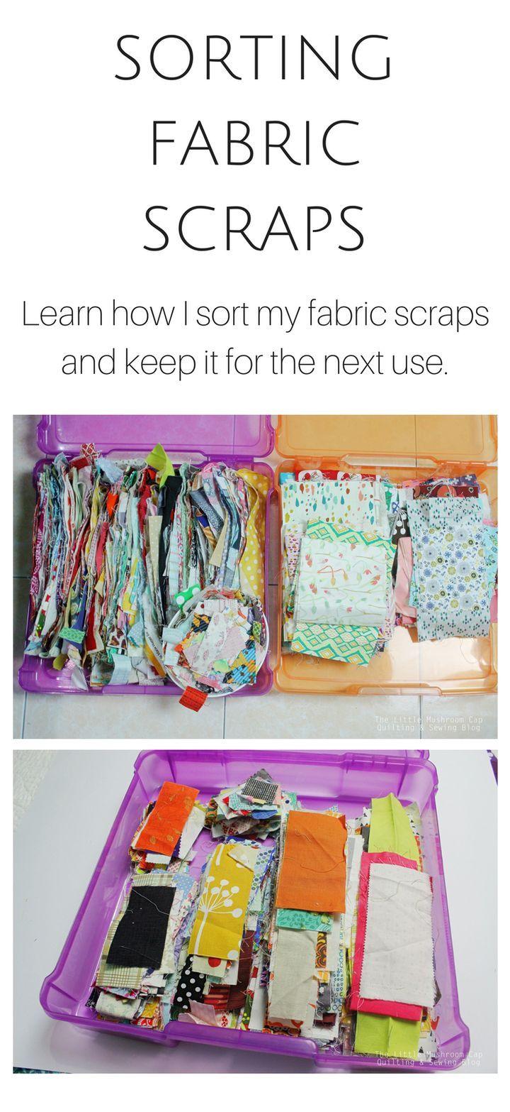 Organising Fabric Scraps - The Little Mushroom Cap