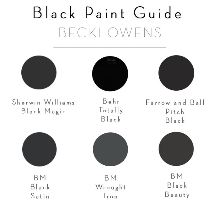 BECKI OWENS - Beautiful Bold Black Bathrooms + Paint Guide