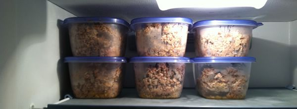 EASY COOKED DOG FOOD RECIPE-STORE IN FREEZER