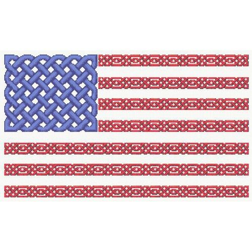 Counted Cross Stitch Pattern Celtic Knot US Flag