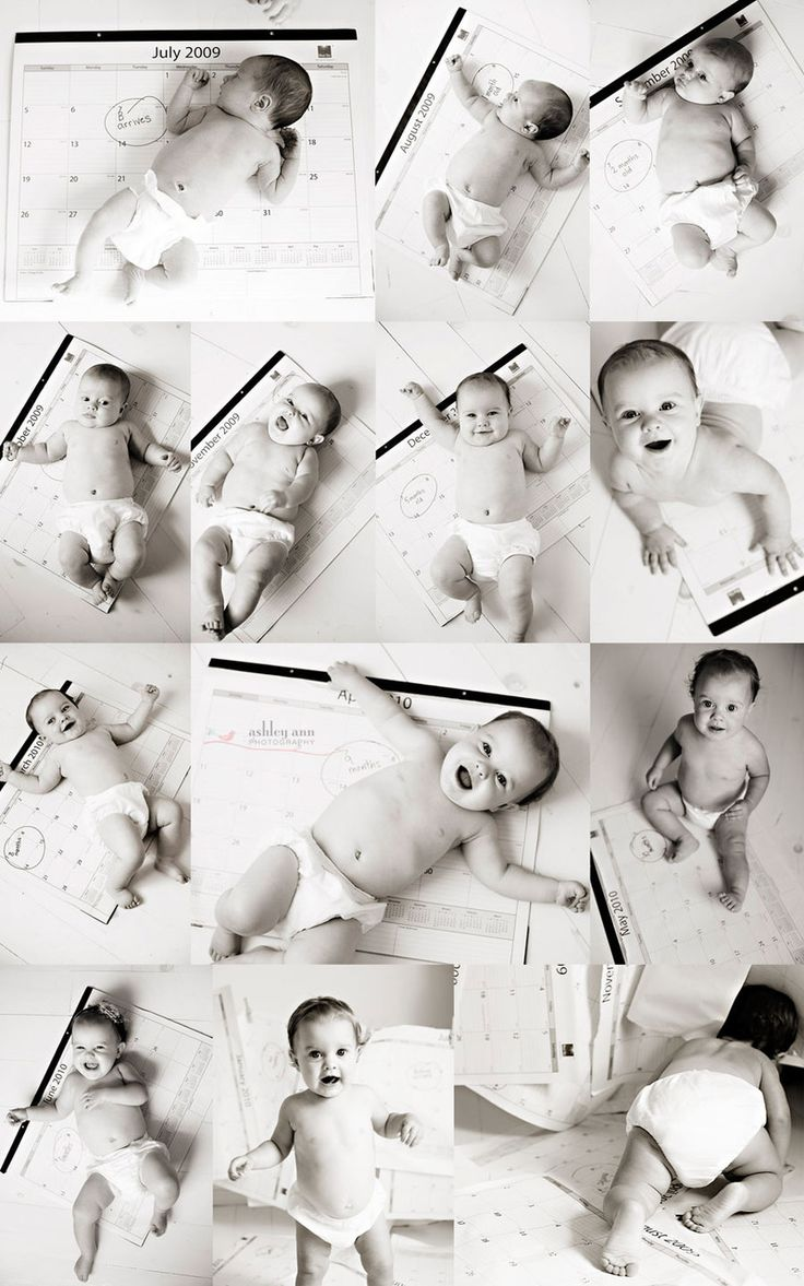 Baby with calendar. Awesome idea!