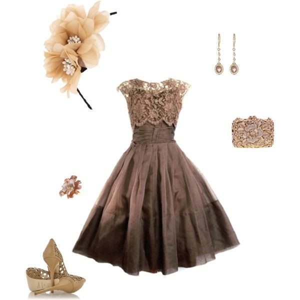 54 best images about wedding outfit ideas on pinterest for Brown dresses for wedding guest