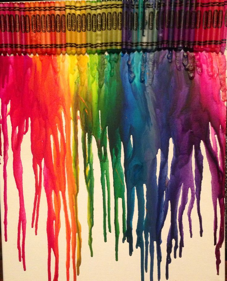 My attempt at the crayon art! Love it, made a huge mess but totally worth it!!