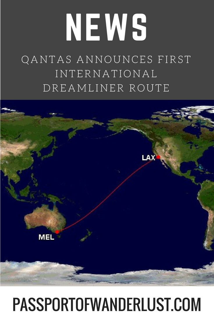 Qantas announces Melbourne to Los Angeles as first international dreamliner route