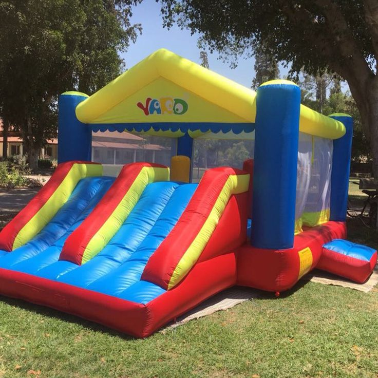 Check Discount Residential Kids Bounce House Inflatable Castle Bouncers Inflatable Bouncy Jumping Castle with Double Slide and Air Blower #Residential #Kids #Bounce #House #Inflatable #Castle #Bouncers #Bouncy #Jumping #with #Double #Slide #Blower