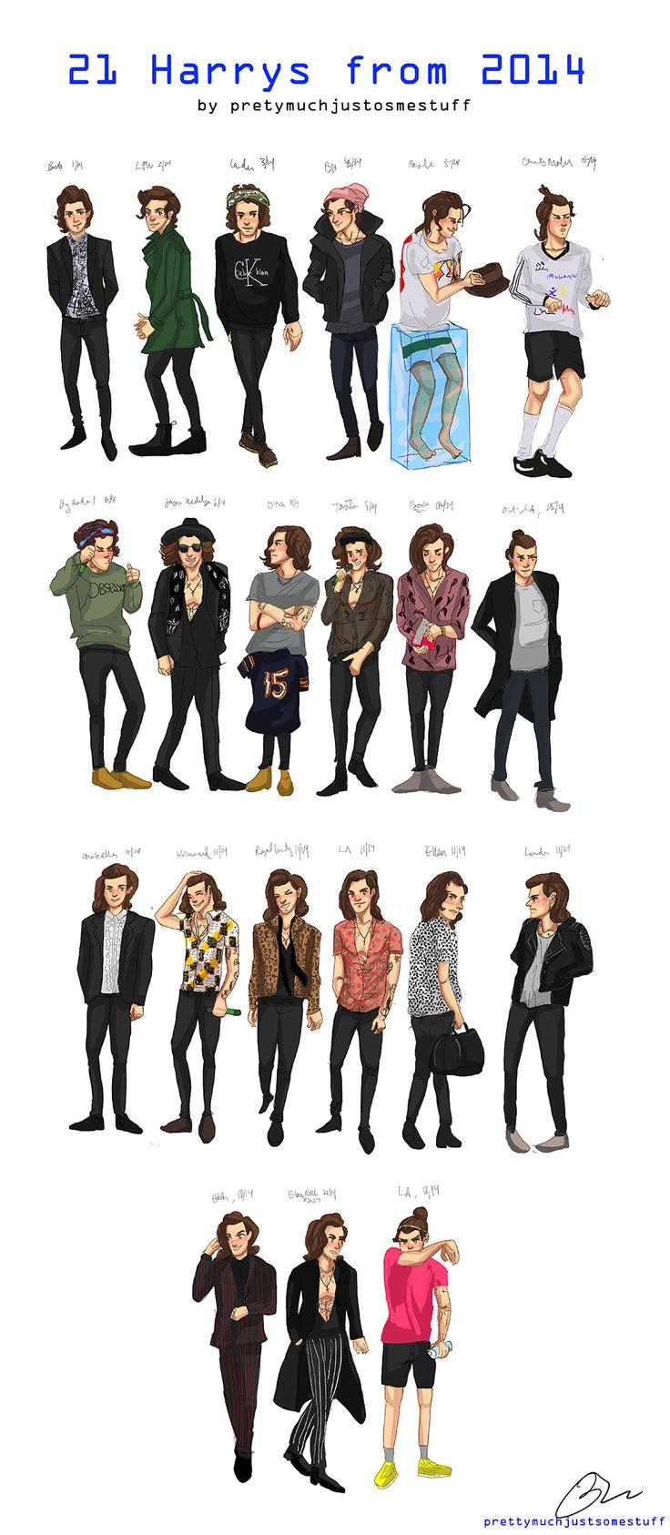 21 Harry Styles Art Print by Justsomestuff
