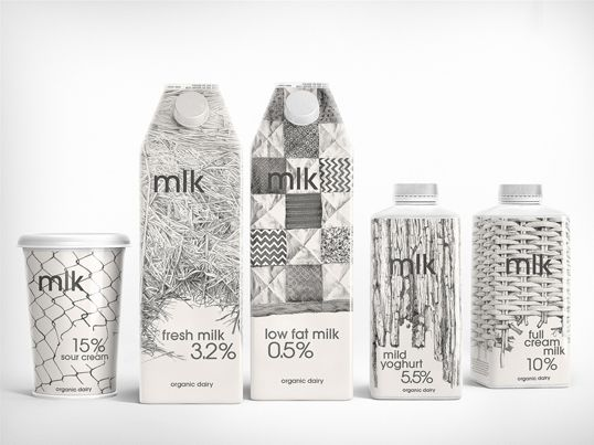 milk package design