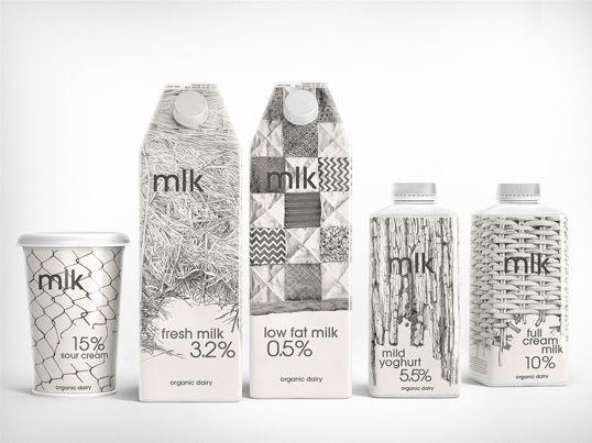 mlk by Depot WPF Branding Agency of RussiaBrand Agency, Milk Packaging, Package Design, Creative Packaging Design, Graphics Design, Milk Cartons, Products Design, Depot Wpf, Design Blog