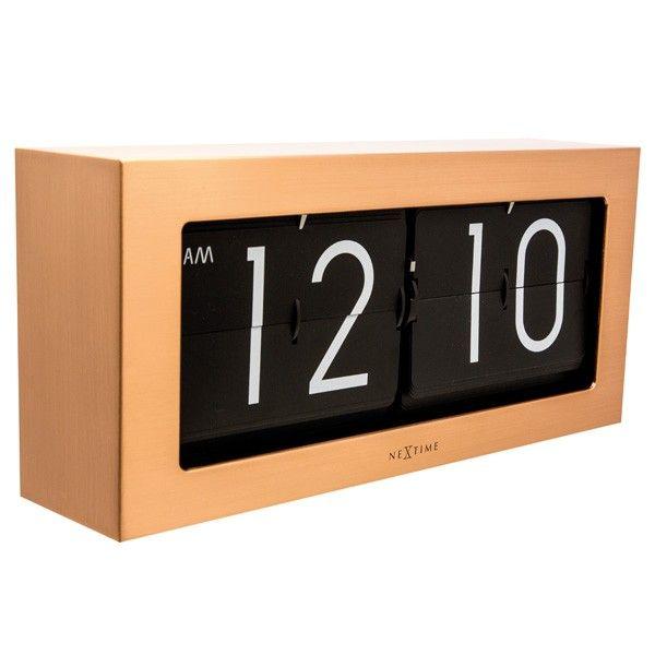 nextime big flip clock copper
