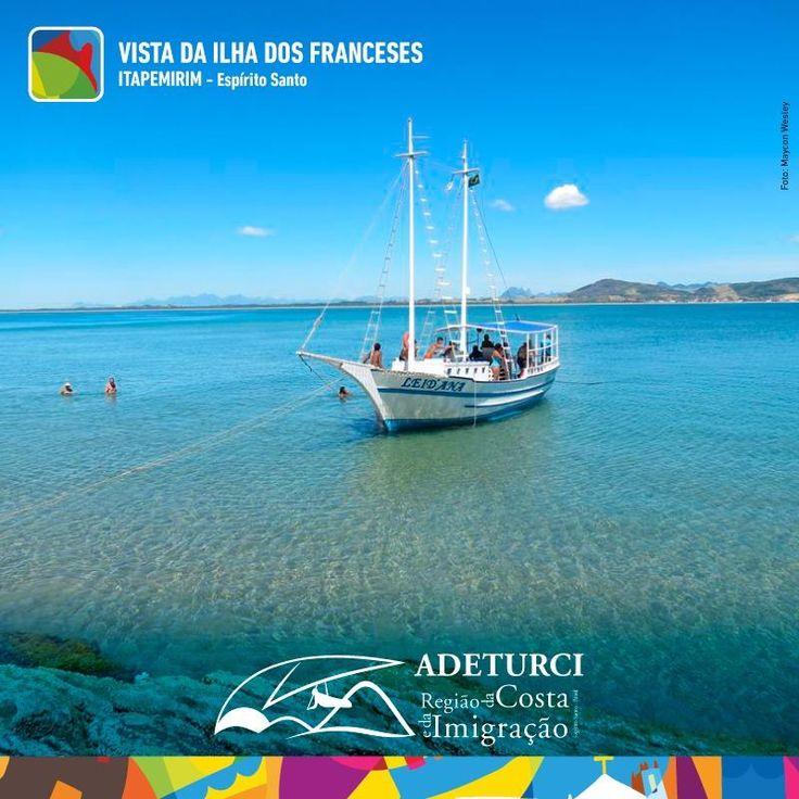 É muito orgulho das belezas do nosso litoral!!!! Olha que vista linda da Ilha dos Franceses em Itapemirim!  #amorS2es #adeturciitapemirim #costaeimigracao