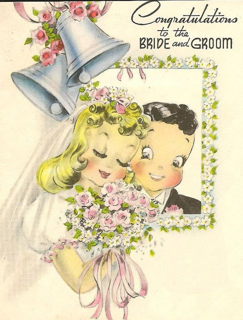 bride & groom greeting by in pastel, via Flickr