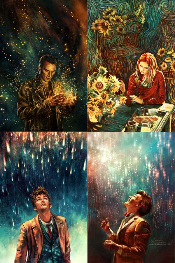 'Alice X. Zhang is the Best at Painting Doctor Who' wrote the previous pinner and I don't think I can argue with that?