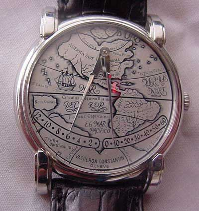 "Platinum Vacheron Constantin ""Mercator"" Double Retrograde Jump Hour Strapwatch…"