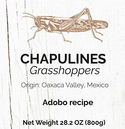 Chapulines (grasshoppers) – Gourmet edible insects from Oaxaca Mexico (28.2 oz) (Adobo recipe)