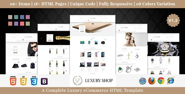 Luxury Shop eCommerce HTML Template #webdesign #website #design #responsive #besttemplates #template #SiteTemplates #Retail #Shopping