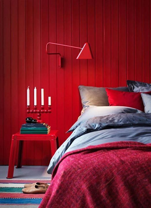 Tudo Sobre Decoração. Bedroom RedRed BedroomsBedroom DecorBedroom ...