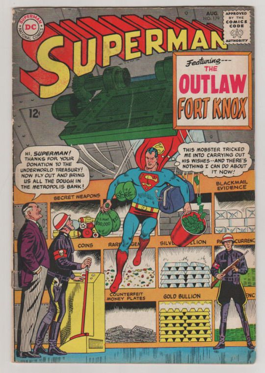 Superman; Vol 1, 179 Silver Age Comic Book. VG+. August 1965. DC Comics  #superman #silver age comics #dc comics #curt swan