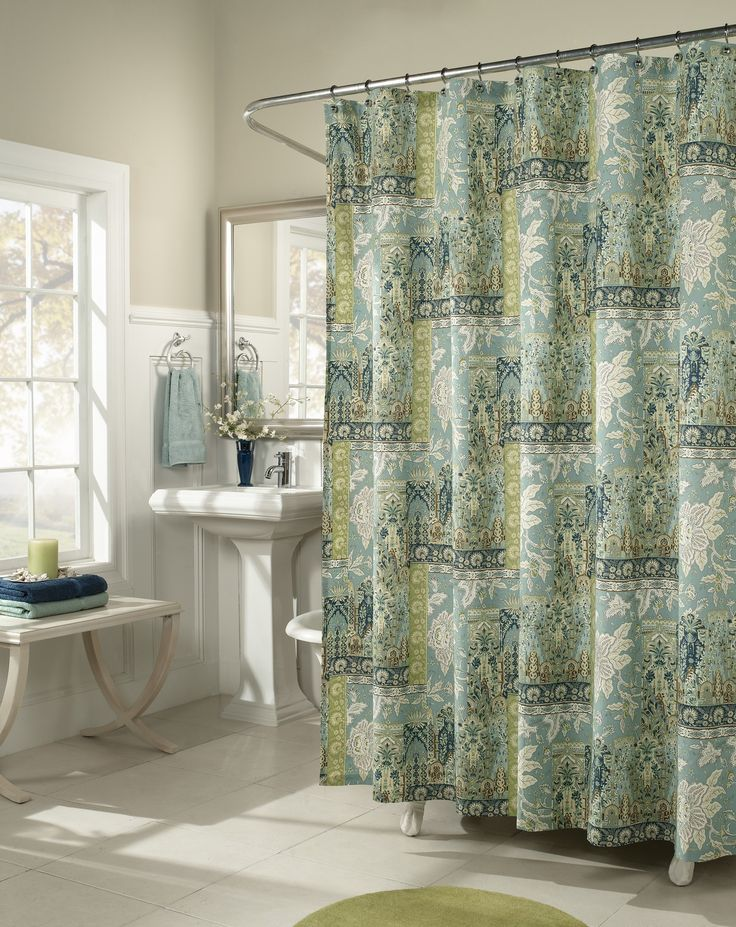 Spice Trade Cotton Shower Curtain