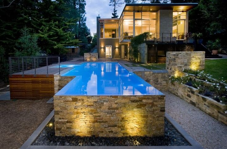 48 best swimming pools images on pinterest above ground for Luxury above ground pools
