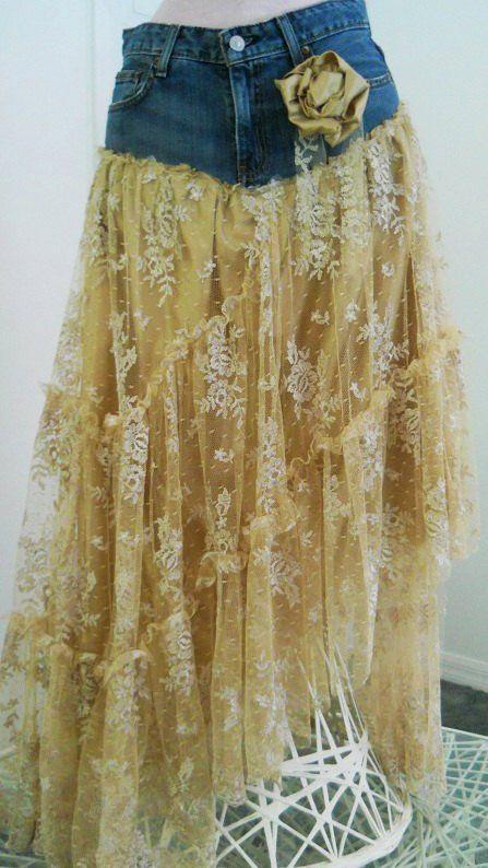 frou frou Renaissance Denim Couture bohemian jean skirt Made to Order447 x 794   76.5KB   www.loveitsomuch.com
