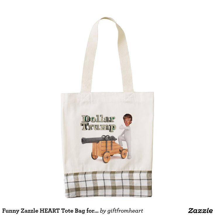 Funny Zazzle HEART Tote Bag for anti-Trump