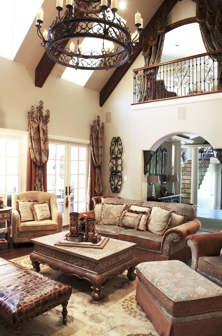 Tuscan Living Room With Old World Charm. Love The Curtains