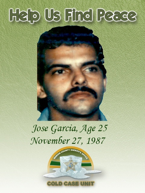 Jose Garcia's decomposed remains were found in the Ocala National Forest on  the Ocala Trail in