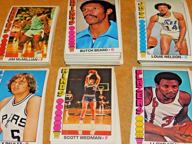 19761977 topps oversized basketball cards six separate