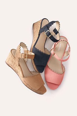 5019a586372cf Women s Scallop Wedge Sandals from Lands  End