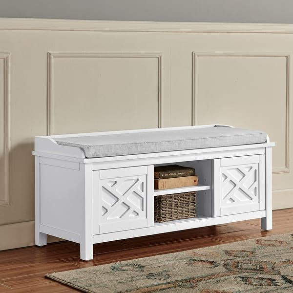 Overstock Com Online Shopping Bedding Furniture Electronics Jewelry Clothing More In 2021 Storage Bench Storage Bench With Cushion Furniture White storage bench with cushion