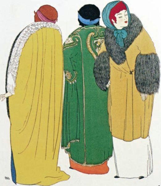 Cappe Maison Poiret, illustrazione di P. Iribe,1908
