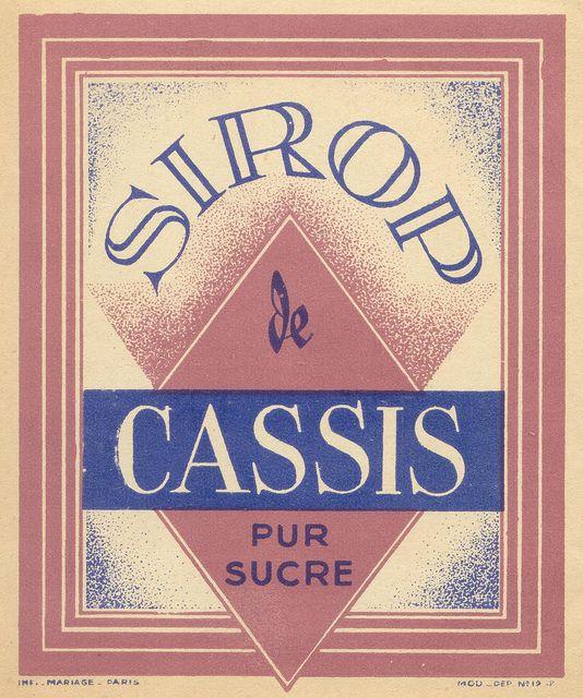 sirop cassis