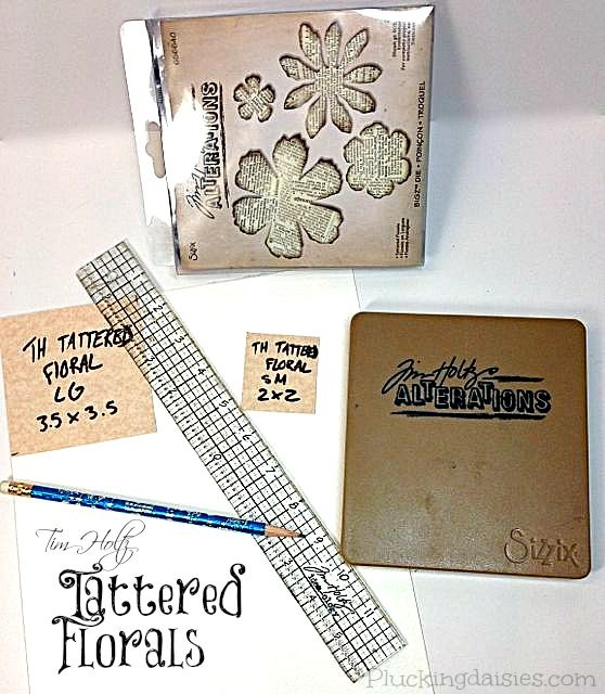 How to Make Watercolor Paper Flowers | @PluckingDaisy #Tim Holtz #Sizzix #RangerInk