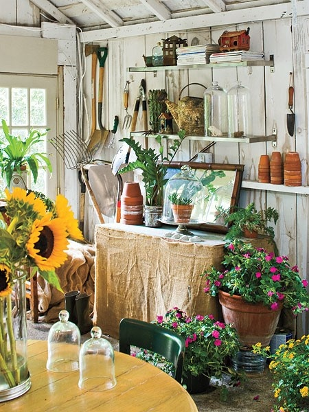 potting bench with sink