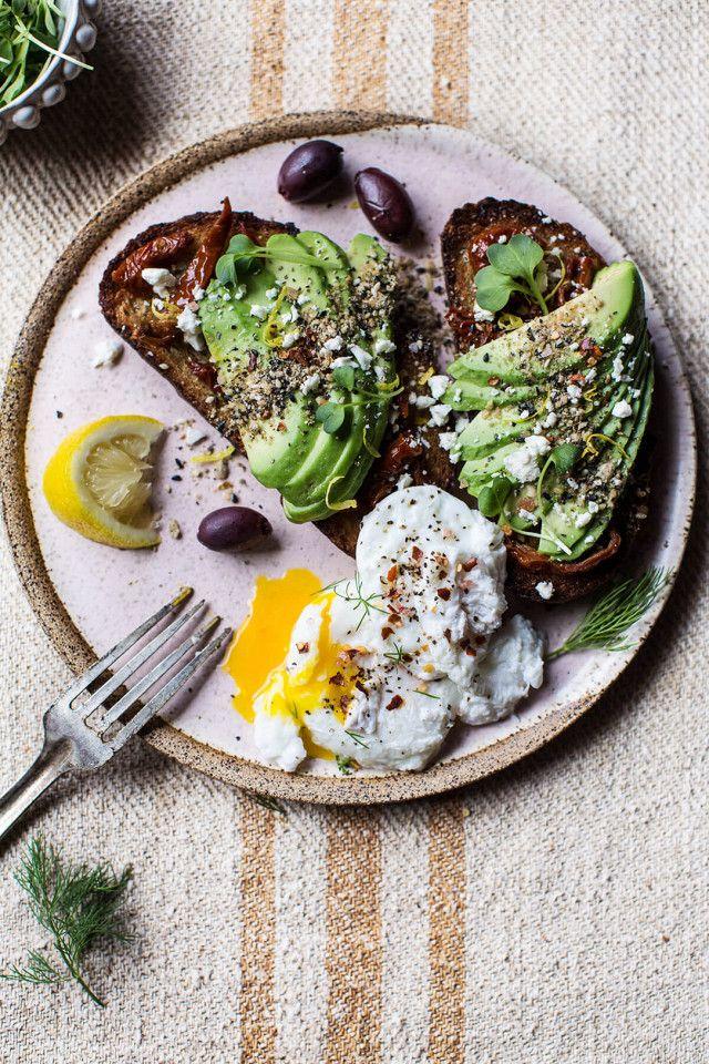 Mediterranean-inspired avocado toast with pistachio dukkah