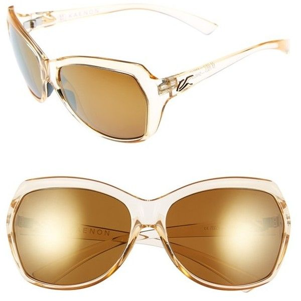 Kaenon 'Shilo' 61mm Polarized Sunglasses (¥25,735) ❤ liked on Polyvore featuring accessories, eyewear, sunglasses, prosecco, nose pads glasses, uv protection glasses, butterfly sunglasses, kaenon sunglasses and lens glasses