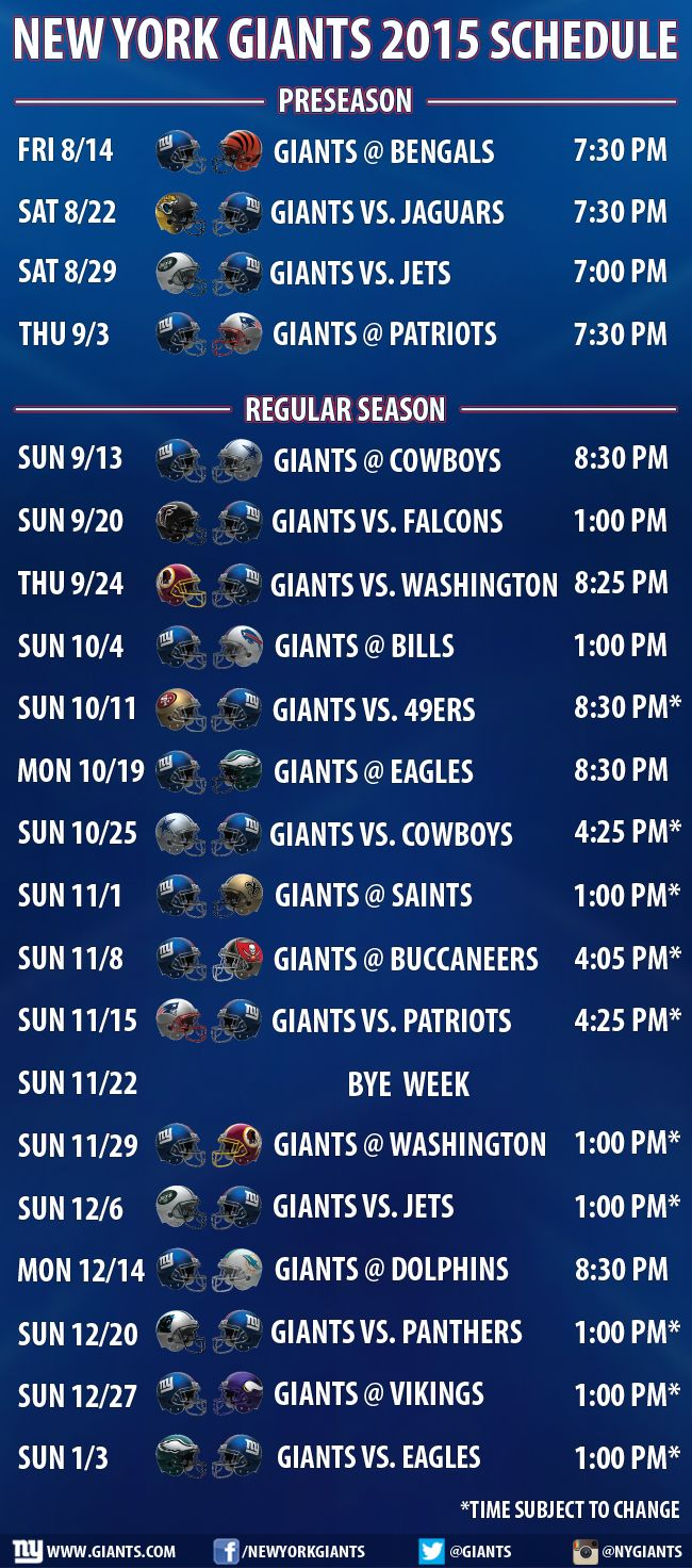Giants.com | Giants Schedule