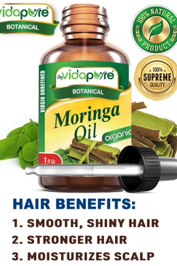Hair Benefits of Moringa Oil Smooth, Shiny Hair