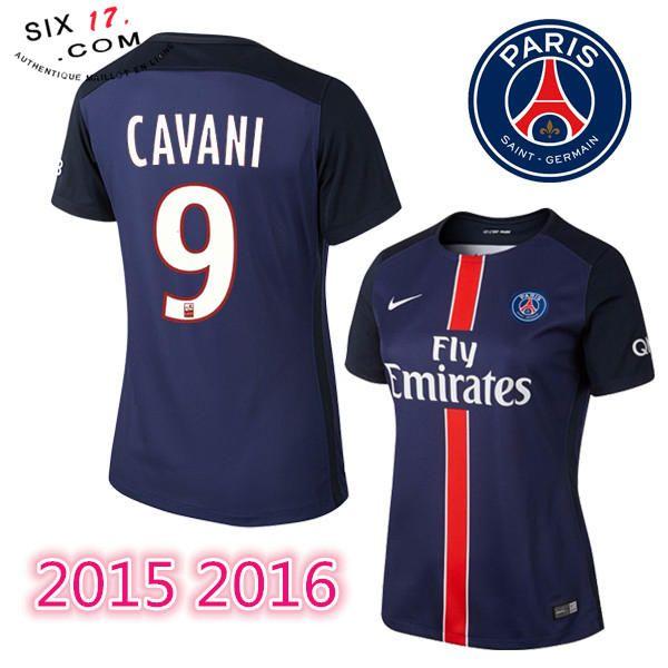 Le nouveau maillot psg femme 2015 2016 CAVANI Domicile manche courte Pas Cher Footcenter